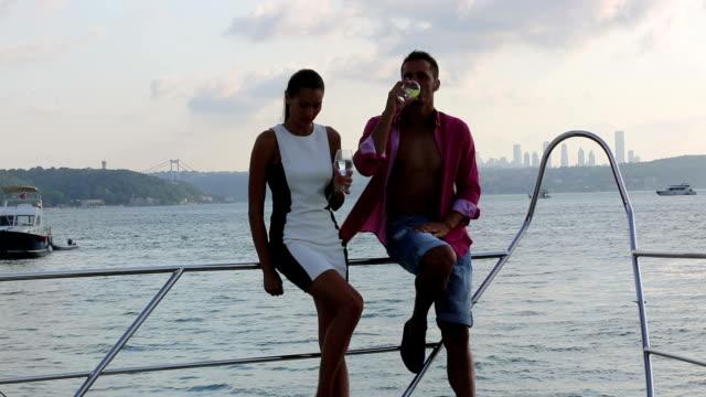 Romantic Couple On A Yacht