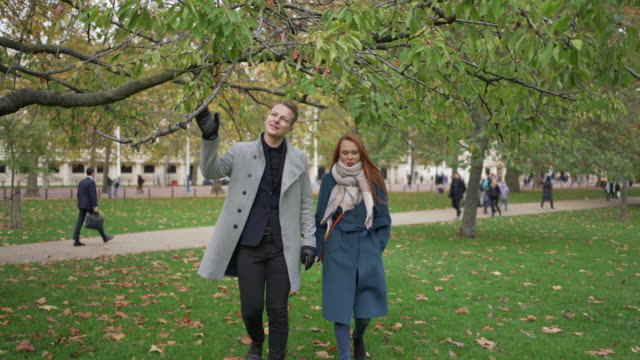 a romantic couple walking and taliking together - husband stock videos & royalty-free footage