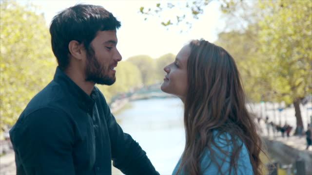 Romantic date in Paris (slow motion)