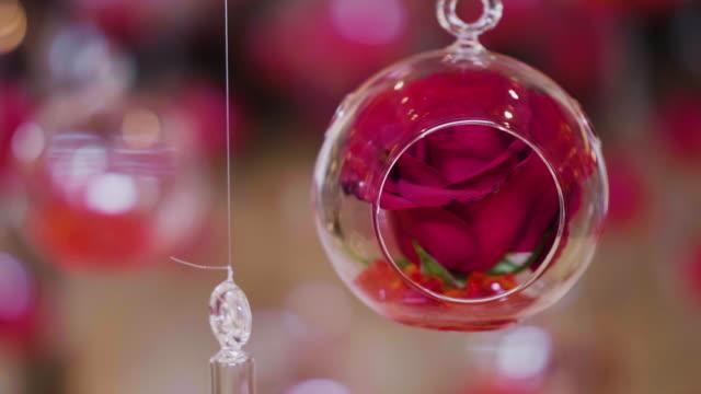 Romantische decoratie met rozen