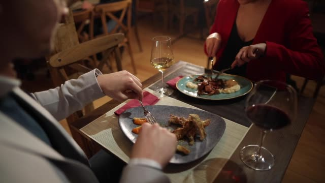 romantic dinner for two - table knife stock videos & royalty-free footage
