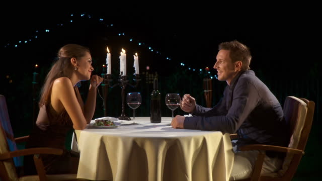 hd dolly: romantic fine dining - candlelight stock videos & royalty-free footage