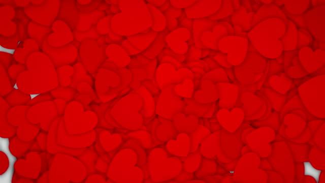 vídeos y material grabado en eventos de stock de romántico corazón de animación (vertical) plegable - mate técnica de vídeo