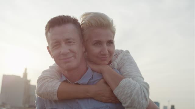 Romantic middle age couple
