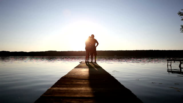 romantic pier - hot passionate kissing stock videos & royalty-free footage