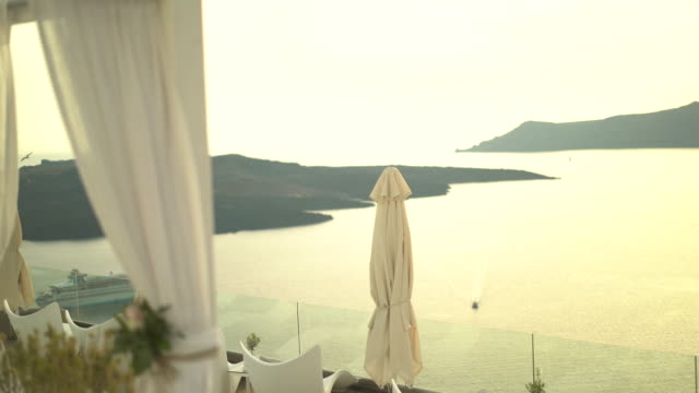 romantic place in santorin - scenics stock videos & royalty-free footage