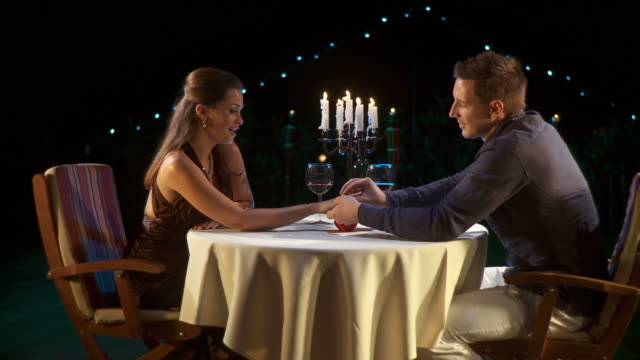 hd dolly: romantic proposing - candlelight stock videos & royalty-free footage