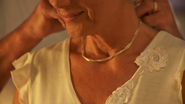 hd: romantic senior couple - necklace stock videos & royalty-free footage