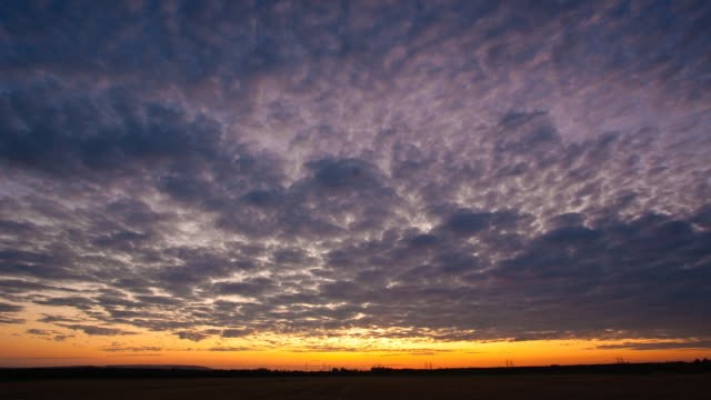 romantic sky - altocumulus stock videos and b-roll footage