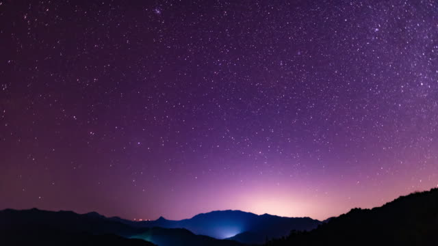 romantic starry sky 4k dci - romantic sky stock videos & royalty-free footage
