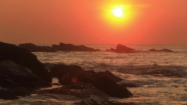 romantic sunset on a tropical beach. - sri lankan culture stock videos & royalty-free footage