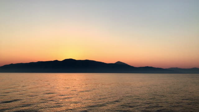 romantic sunset over kefalonia - cultura mediterranea video stock e b–roll