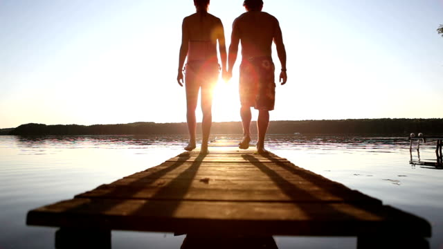 romantic sunset - hot passionate kissing stock videos & royalty-free footage