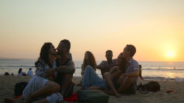romantic sunsets - bali stock videos & royalty-free footage