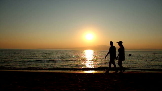 romantic walk at sunset - romantic sky stock videos & royalty-free footage