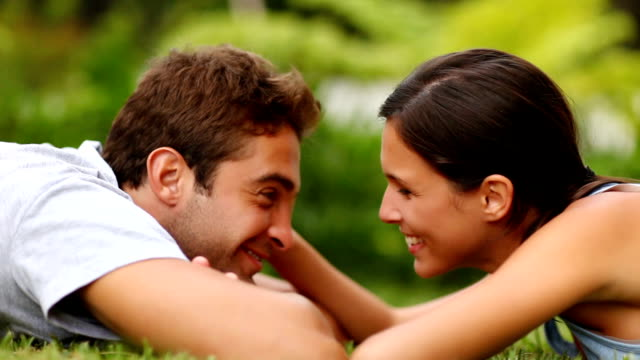 Romantic young couple enjoying themselves