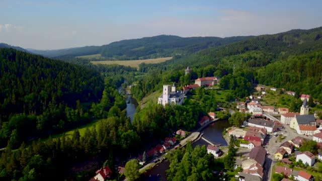 rožmberk. bohemia. czech republic. - tschechische kultur stock-videos und b-roll-filmmaterial