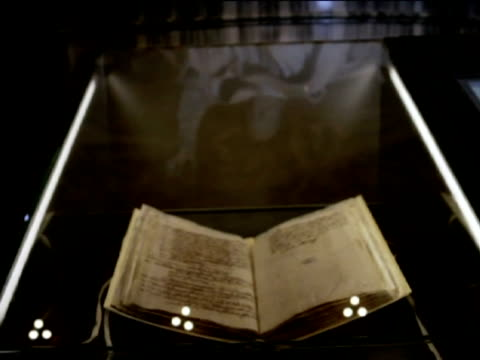 rome 1 mar some 100 original documents from the archives of the popes are presented in the exhibition'lux in arcana the vatican secret archive... - バチカン市国点の映像素材/bロール