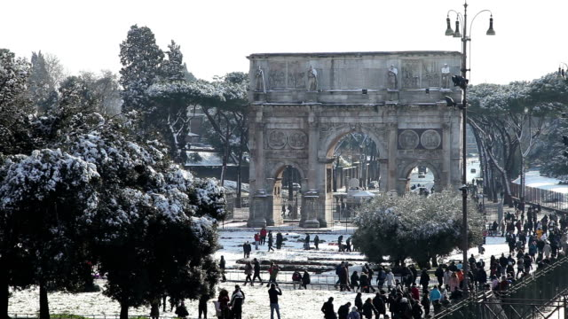 rome arch of constantine - arch of constantine stock videos and b-roll footage