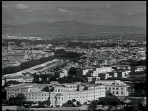 rome castel st angelo w/ tiber river fg ws piazza san pietro ws basilica di san pietro in vaticano - st peter's square stock videos & royalty-free footage