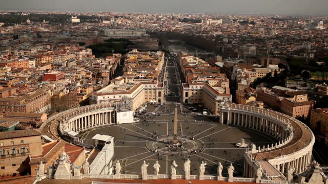 rome cityscape - st peter's square stock videos & royalty-free footage