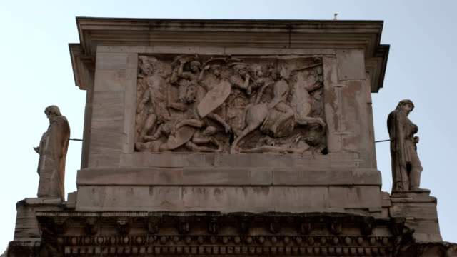 rome costantino arch - animal representation stock videos & royalty-free footage