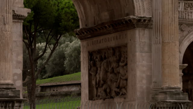 rome costantino arch - male likeness stock videos & royalty-free footage