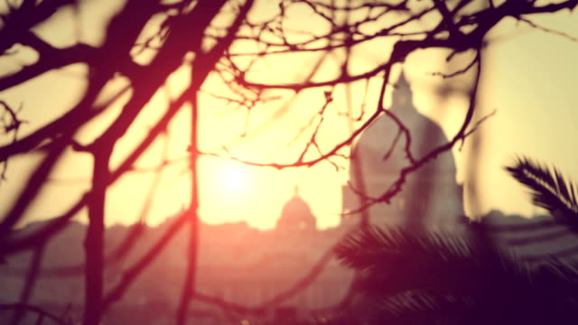 rome dome from pincio hill - state of the vatican city stock videos and b-roll footage
