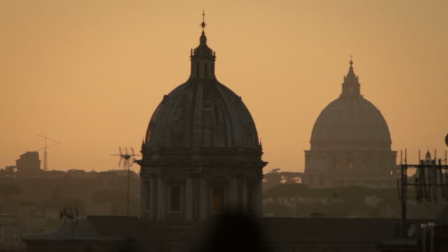 rome from capitol hill at sunset - christianity stock videos & royalty-free footage