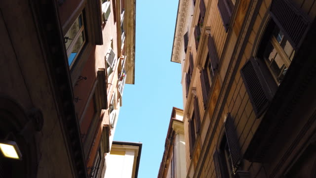 rome, italy - classic street old town - old town stock videos & royalty-free footage