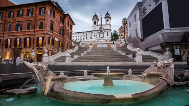 Rome, Italy, Spanish steps at Piazza di Spagna