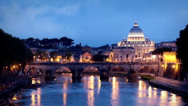 ローマ、イタリア - テベレ川点の映像素材/bロール