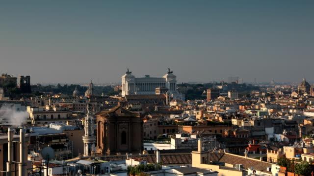 rome morning view - inquadratura fissa video stock e b–roll