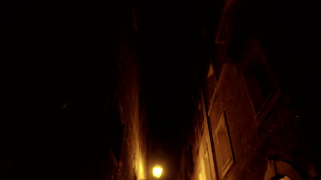 rome old center alley night - empty road stock videos and b-roll footage