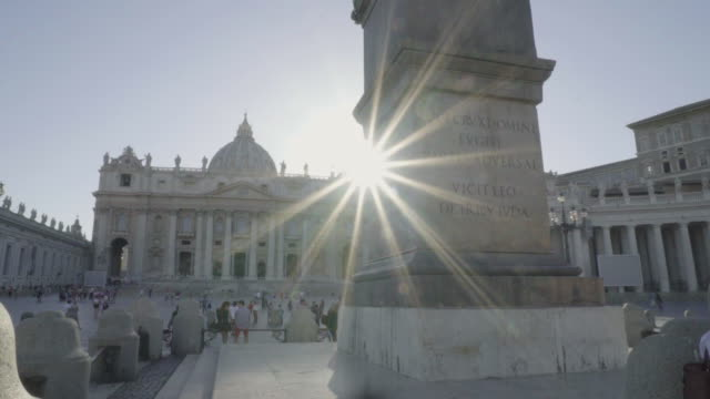 rome, vatican, st.peter's square, dolly in - state of the vatican city stock videos & royalty-free footage