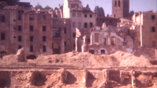 rome war damage 1944 - world war ii stock videos & royalty-free footage