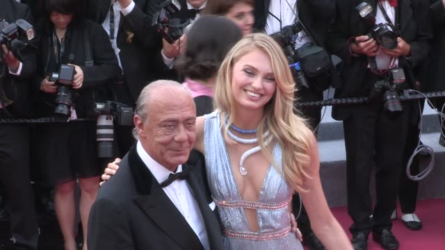 Romee Strijd and Fawaz Gruosi on the red carpet for the Premiere of Everybody Knows Todos lo Saben at the Cannes Film Festival 2018 Tuesday 8 May...