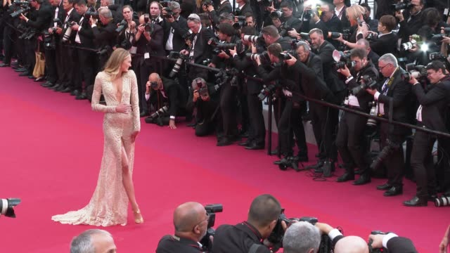 romee strijd at 'the dead don't die' red carpet arrivals opening ceremony - the 72nd cannes film festival on may 14, 2019 in cannes, france. - international cannes film festival stock videos & royalty-free footage