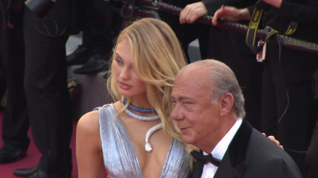 romee strijd, fawaz gruosi at 'everybody knows ' & opening gala red carpet arrivals on may 8, 2018 in cannes, france. - gala stock videos & royalty-free footage