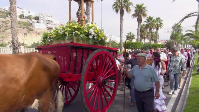 romeria festival - andalucia stock videos & royalty-free footage