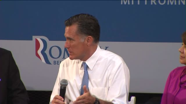 romney visits los angeles to talk about small business on july 24 2012 in los angeles california - 2012 united states presidential election stock videos & royalty-free footage
