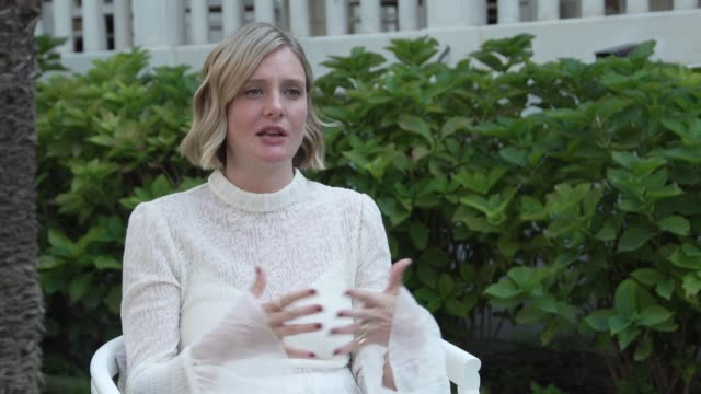 stockvideo's en b-roll-footage met interview romola garai actress on never having heard before of eleanor marx karl marx's daughter who carried on his message after his death and why... - filmfestival