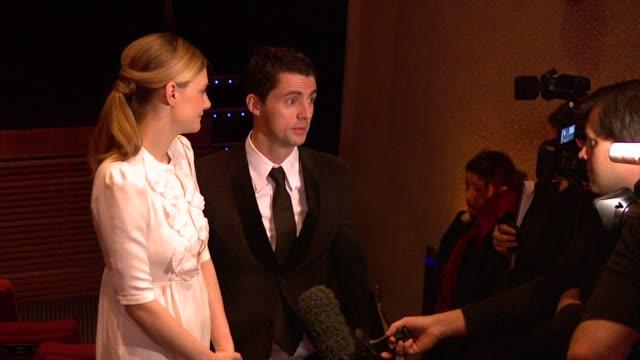 romola garai and matthew goode at the 2010 orange bafta nominations at london england - matthew goode stock videos & royalty-free footage