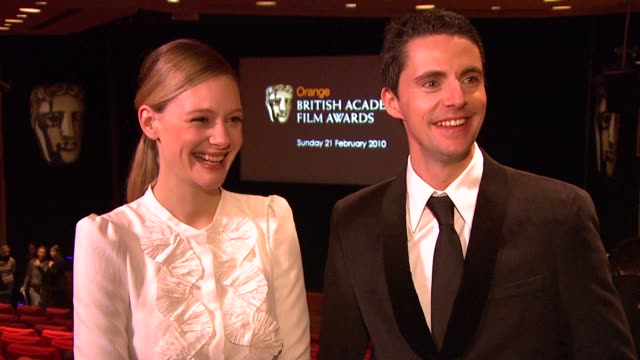 romola garai and matthew goode on how they rehearsed a lot to do the nominations on how they feel about costars colin firth and saoirse ronan being... - matthew goode stock videos & royalty-free footage