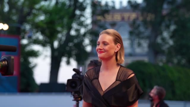 romola garai arrives on the red carpet ahead of the 'miss marx' screening during the 77th venice film festival on september 05 2020 in venice italy - romola garai stock videos & royalty-free footage