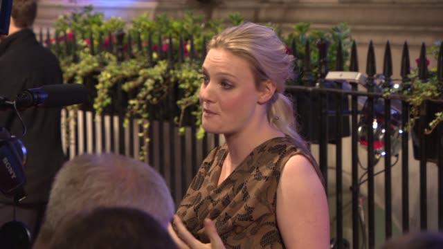romola garai at bfi's luminous gala at 8 northumberland avenue on october 8 2013 in london england - romola garai stock videos & royalty-free footage