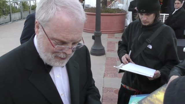 Ron Clements greets fans at the 2017 Annie Awards at Royce Hall at UCLA in Westwood at Celebrity Sightings in Los Angeles on February 04 2017 in Los...
