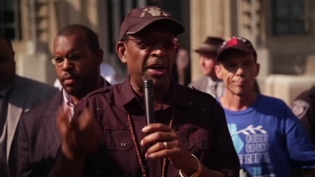 CU Ron Daniels President of Institute of the Black World speaks during the rally outside US Justice Department Washington DC August 27 2014 Activists...