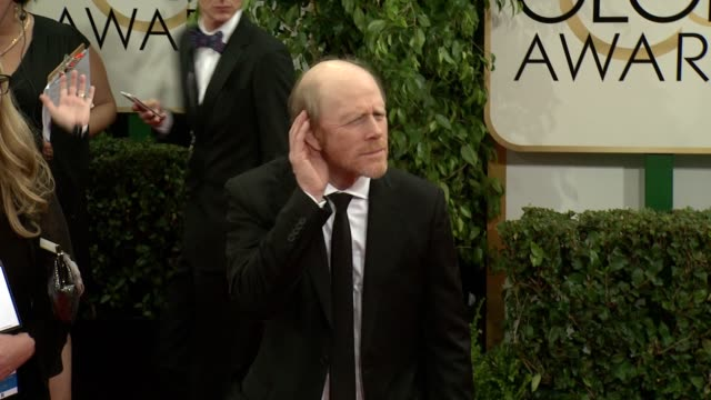 vídeos de stock, filmes e b-roll de ron howard at the 71st annual golden globe awards arrivals at the beverly hilton hotel on in beverly hills california - ron howard
