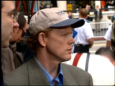 ron howard at the dedication of ron howard's footprints at grauman's chinese theatre in hollywood, california on march 22, 1999. - mann theaters stock videos & royalty-free footage